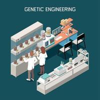 ilustração em vetor conceito isométrico genética
