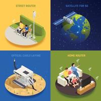 Ilustração em vetor 5g internet design concept