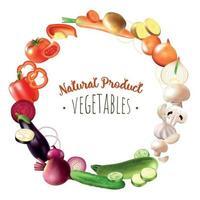 ilustração em vetor composição de produtos vegetais naturais