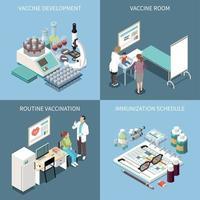 ilustração em vetor conceito design vacinação 2x2