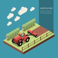 ilustração em vetor horticultura composição isométrica