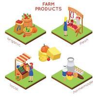 ilustração em vetor conceito design de produtos agrícolas