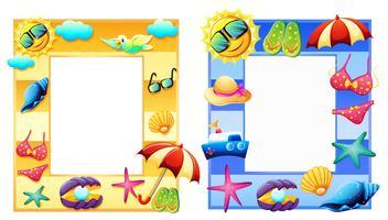 Um conjunto de quadro de elemento de verão