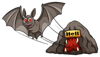 Um morcego vetor