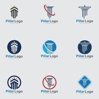 modelo de logotipo de pilar, ícone de ilustração vetorial de coluna vetor