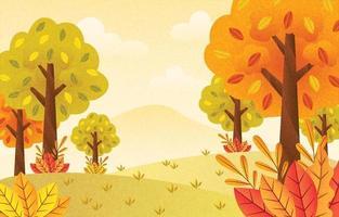 cenário da temporada de outono vetor
