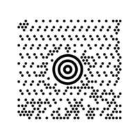 modelo de código de barras de scanner de código digital abstrato para mídia social vetor