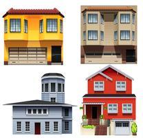 Projetos de construção diferentes vetor