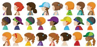 Lateral das diferentes faces