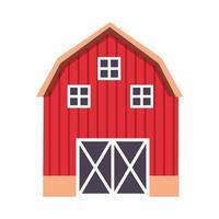 desenho vetorial de construção de fazenda isolada vetor