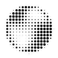 círculo radial de meio-tom vetor