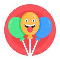 balões engraçados celebrações vetor
