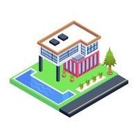 construção de casa de luxo vetor