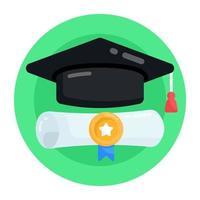 graduação e diploma vetor