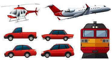 Projetos diferentes de transportes vetor