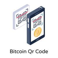 código bitcoin qr vetor