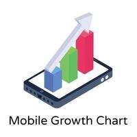 gráfico de crescimento do celular vetor