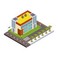 arquitetura e construção de restaurante vetor
