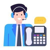 agente de serviços de linha de apoio vetor