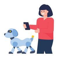 robô animal de estimação vetor