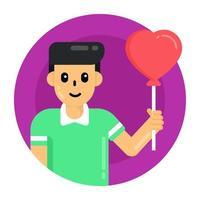 celebrações do balão do coração vetor