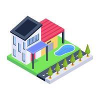 mansão e residência vetor