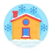 meteorologia casa de neve vetor