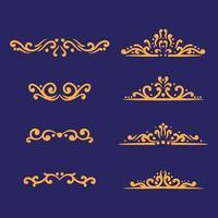 desenho de conjunto de ornamento vetor