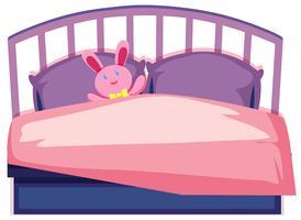 Uma cama de crianças fofas vetor