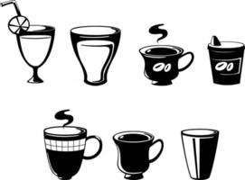 ilustração de bebida conjunto isolado vetor