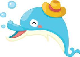 ilustração de um golfinho isolado em um fundo branco vetor