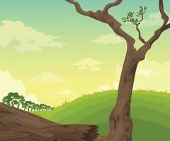 fundo de paisagem com vetor de árvore