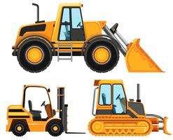 Diferentes tipos de veículos utilizados na agricultura vetor