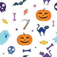 gráfico vetorial de fundo sem costura fantasma de halloween vetor