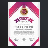 modelo de design de certificado vetor