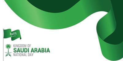faixa de celebração do dia nacional da arábia saudita vetor