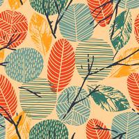 Resumo Outono padrão sem emenda com árvores. Fundo do vetor para a vária superfície.