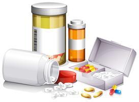 Um conjunto de medicina vetor