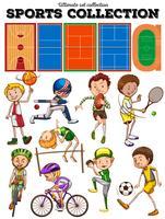 Tipo diferente de esportes e tribunais