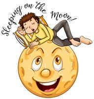 Frase inglesa para dormir na lua vetor