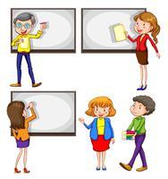 Professores masculinos e femininos vetor
