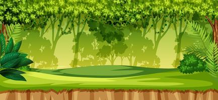 Uma paisagem de selva verde vetor