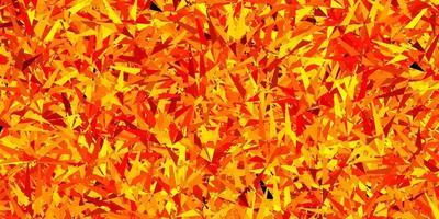 modelo de vetor laranja escuro com cristais, triângulos.