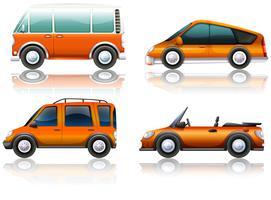 Transporte definido em laranja vetor
