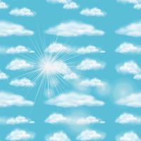 Projeto do fundo com céu azul vetor