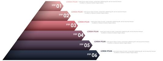 Infográfico de triângulo para projeto de negócios vetor