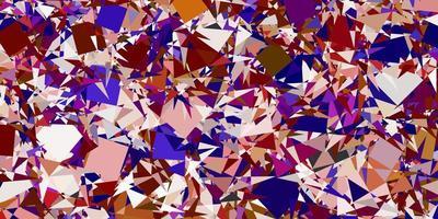 modelo de vetor multicolor de luz com formas de triângulo.
