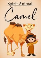 Um espírito animal camelo vetor