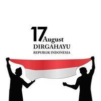 17 de agosto. Indonésia feliz dia da independência, espírito de vetor de liberdade