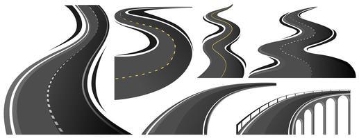 Forma diferente das estradas vetor